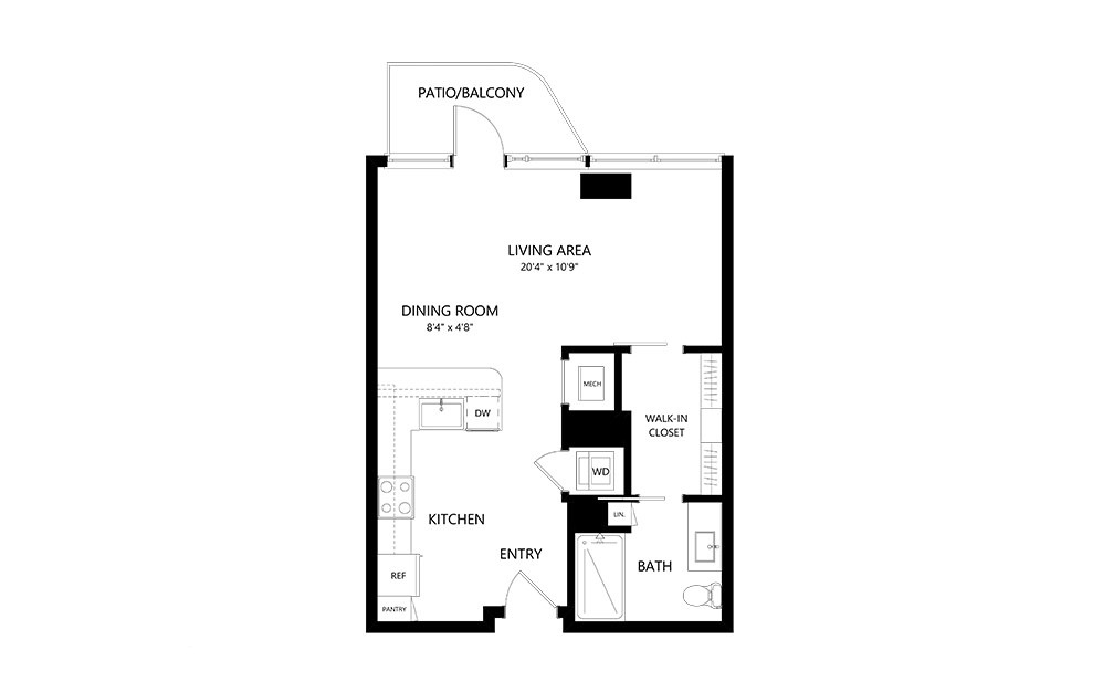 Studio A Studio Floor Plan