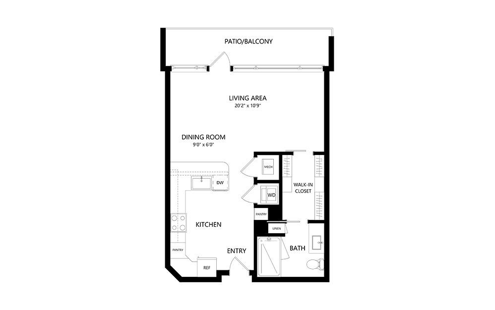 Studio B Studio Floor Plan